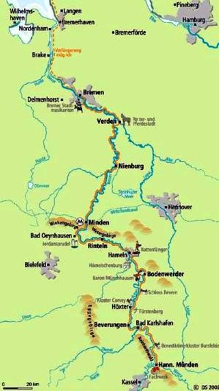 Mosel Radweg Karte Pdf.Weserradweg Märchenstraße 2019